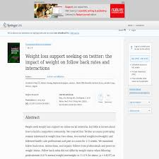 Seeking On Weight Loss Support Seeking On The Impact Of Weight On