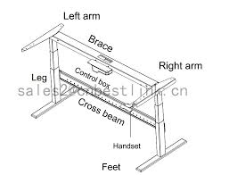 Computer Desk Height by Electronic Height Adjustable Desk For Ergocentric Buy Electronic