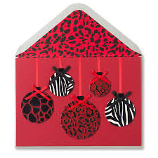 animal print ornaments greeting cards papyrus