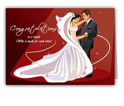 congratulation greeting card design for marriage with