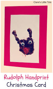 rudolph handprint christmas card clare u0027s little tots