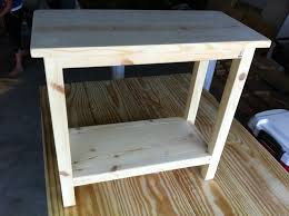 Build A End Table Plans by The Quaint Cottage Diy Simple End Table For Small Spaces