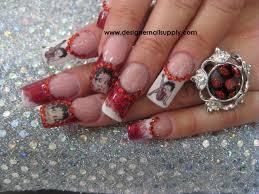 betty boop glitter acrylic nails nail art gallery