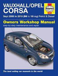 haynes manual 4886 vauxhall corsa petrol u0026 diesel 06 to 10