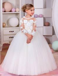 2017 flower dresses for weddings long sleeves baby