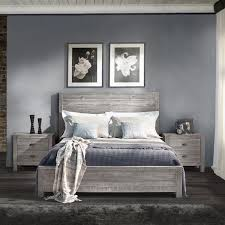 Grey Furniture Bedroom Montauk King Size Solid Wood Bed Wood Beds Wood Furniture And