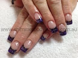 gel nails black u0026 purple nails stamping nail art nails