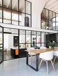 separation cuisine salle a manger design interieur cuisine avec verriere interieure style atelier