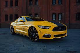 Mustang Yellow And Black Five O Black U0026 Yellow Ford Mustang On Lexani Wheel U2014 Carid Com Gallery