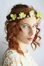 hippie flower headbands flower crown festival floral crown rustic bridal circlet boho