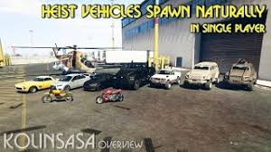 mod gta 5 xbox 360 single player heist vehicles spawn naturally in single player gta5 mods com