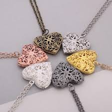diy necklace pendants images Hollow love heart diy secret message locket necklace pendant 6 jpg