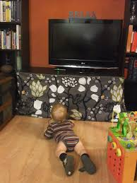 baby proofing tv stand skirt or i could use it to hide all the