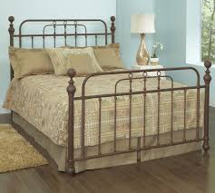 courtney iron bed in antique iron humble abode