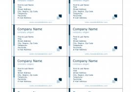 template for business cards 10 per sheet and card business card