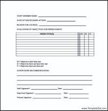 employee write up form employee disciplinary write up form how
