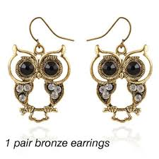 owl stud earrings shijie vintage hollow owl stud earrings for women lovely