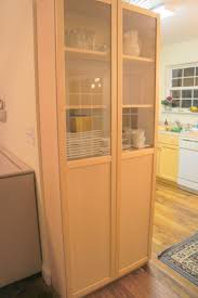 ikea billy bookcase glass doors decor saturdaychic
