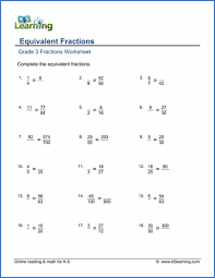 grade 3 fractions and decimals worksheets free u0026 printable k5