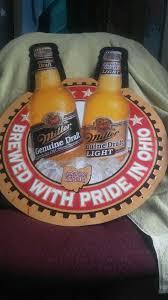miller genuine draft light miller genuine draft metal beer sign general in canal winchester oh