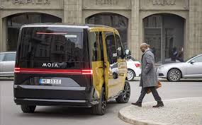 new volkswagen bus electric vw unveils an electric van for its moia ride sharing service