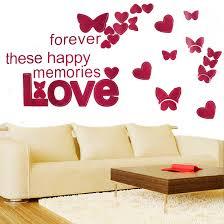 aliexpress com buy selling love words butterfly wall