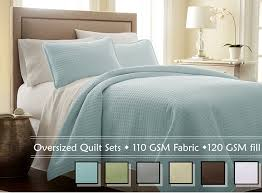 Oversized Quilted Bedspreads Amazon Com Southshore Fine Linens 3 Piece Oversized Quilt Set