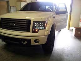 2012 ford f150 projector headlights recon smoked ccfl halo headlights installed ford f150 forum