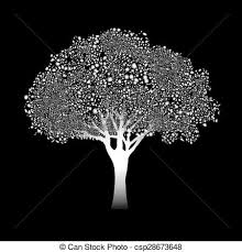 vector clipart of abstract circuit tree vector background