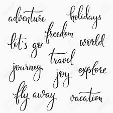 design inspiration words travel inspiration words lettering set calligraphy style typography