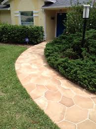 Flagstone Patio Cost Per Square Foot by Concrete Designs Florida Flagstone Entryway