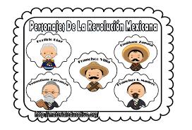 imagenes de la revolucion mexicana en preescolar bonitos diseños de personajes de la revolución mexicana material