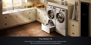 How To Hide Washer And Dryer by Lg Twinwash Dual Washer W Flexible Washing Options Lg Usa