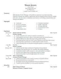 Product Manager Resume Sample Sample Product Manager Resume Project Manager Cover Letter Sample