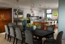 Modern Dining Room Lighting Fixtures Modern Dining Room And Chairs With Sumptuous Hanging Lighting