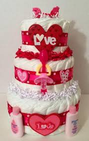 love is in the air valentine diaper cake 3 tier diaper cakes