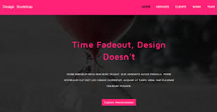 pink free responsive business landing page graygrids
