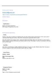resume db2 dba mainframesample database administrator resume