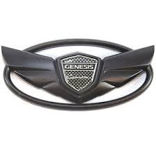 hyundai genesis with wings emblem front rear glossy black wing emblem logo trunk or grille hyundai