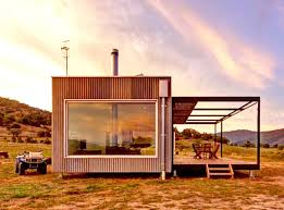 solar powered modular cabin exists completely off the grid in