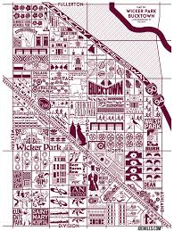 Chicago Neighborhood Map Poster by New Chicago Prints For Sale Joe Mills