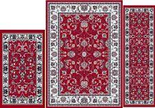 Area Rug And Runner Set Traditional Oriental Brown Floral 4 Pcs Vines Leaf Area Rug Round