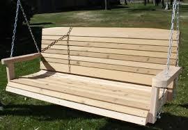 colonial cedar porch swing