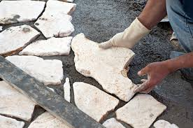 How To Lay Flagstone Patio How To Build A Stone Patio Southwest Boulder U0026 Stone