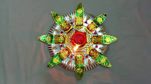 Home Made Decoration Very Simple Homemade Aarthi Tray Decorative Plate Youtube