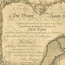 Old Map New York City by New York 1776 Bernard Ratzer Plan Antique Map Battlemaps Us