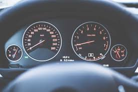 car dashboard modern car dashboard with speedometer and tachometer free stock