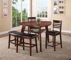 triangle dining table with bench black wooden dining chairs and