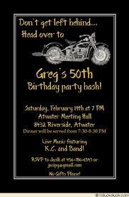 motorcycle birthday invitation harley biker classic party