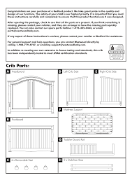 4 In 1 Convertible Crib Instructions by Crib Parts Westwood Design Monterey Convertible Crib User Manual